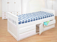 Captains Storage Bed white 1
