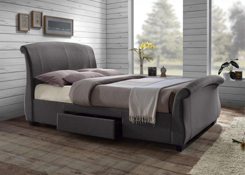 Murcia bristol beds divan beds pine beds bunk beds for Grey double divan bed
