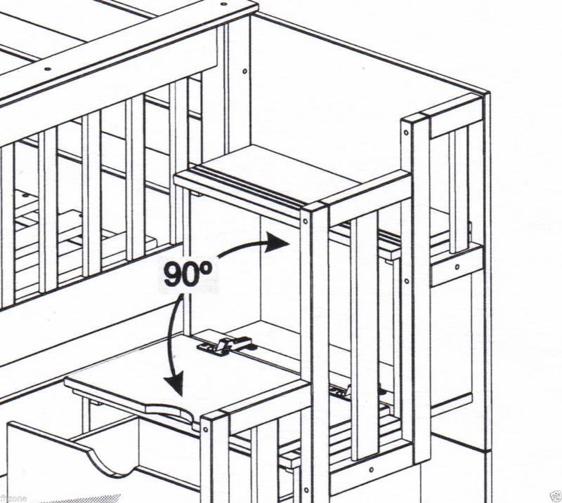 Bunk Bed Diagram 800 x 717