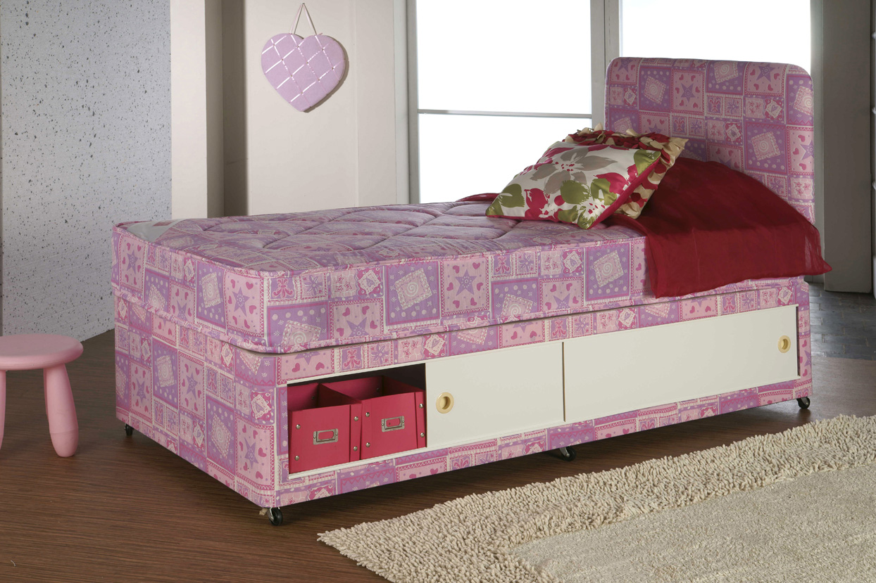 Kids Pink Divan Bristol Beds Divan Beds Pine Beds Bunk Beds Metal Beds Mattresses And More