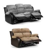 Jumbo cord 3+2 reclining sofas
