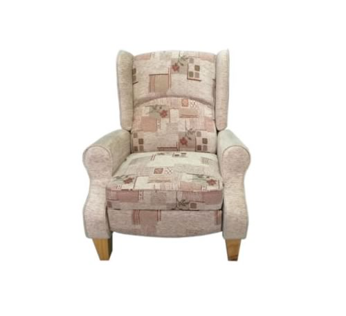 Wing back reclining chair bristol beds divan beds for Wing back recliner chair