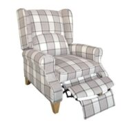 Wing back reclining chair