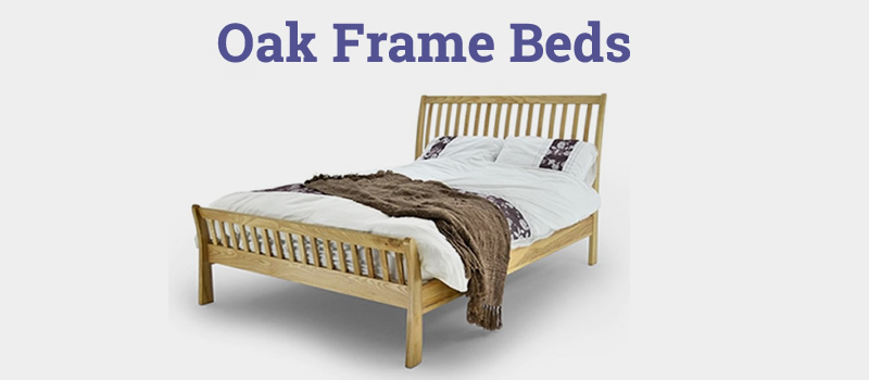 Solid oak frame beds