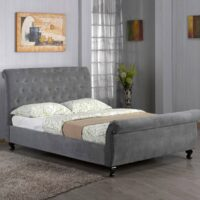Portishead bed frame in Granite