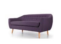 Radstock 2 Seater Sofa Purple side