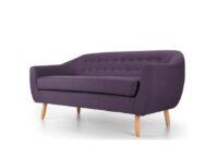 Radstock Seater Sofa Purple side