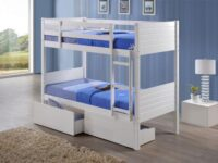 White Bunk with Trundle