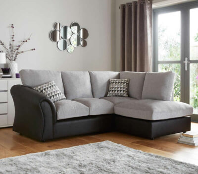 Standard Back Compact Corner Chaise Sofa Room